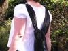 witte blouse met verwijderbare sjaal