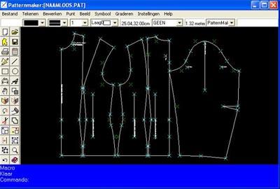 Patronen zelf kleding maken: De patronen teken ik met het software pakket patternmaker op de computer